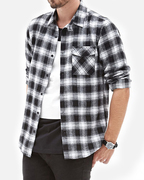 Black And Ash Plaid Flannel Shirts Manufacturers