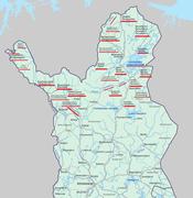 Саамские названия в финской карте 2013. года.