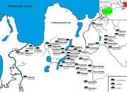 Карта расселения води сейчас