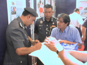 Malaysian IGP officers acknowledging my letters