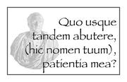 Quo usque?