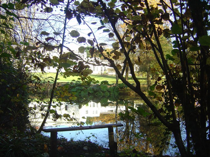 L'étang reflète profond miroir....