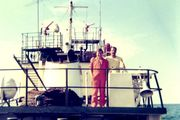 35 With the Skipper of  EL CAVALLO GRANDE, Tidewater Marine