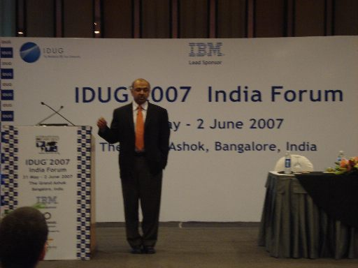 Arvind Keynote at IDUG India