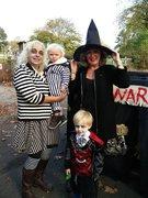 Stanley and friends enjoying Halloween