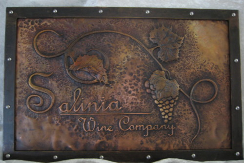 Sign for Salinia Wine Company