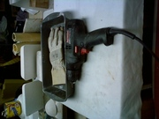 Electric Drill And Gloves