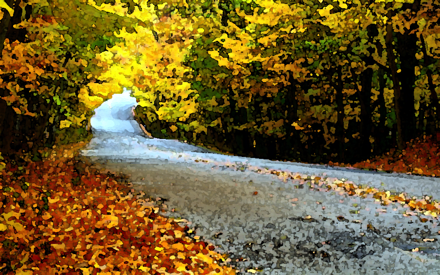 Abstract Of Autumn Road