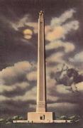 A Night View of San Jacinto Memorial Shaft (1910)