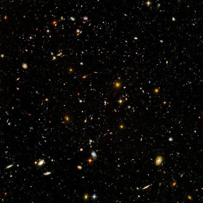 Hubble Telescope in dark space