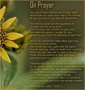 On Prayer - Kahlil Gibran