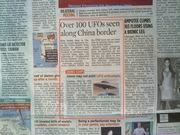100+ UFO's India-China Border - News Report 6th Nov 2012