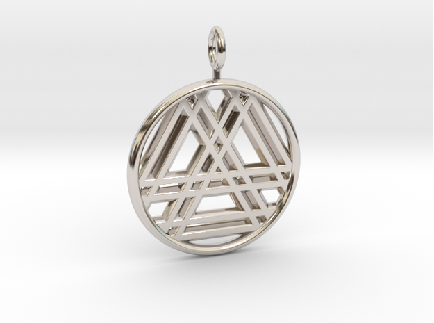 RESONANT TRINITY-Rhodium Plated