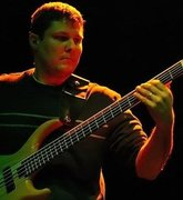 Jason Russell of The Muckrakes on bass
