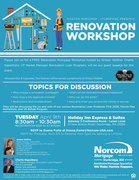 RENOVATION WORKSHOP - 4.9.19 - 8:30 am
