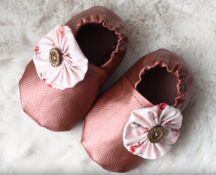 Learn How to Sew Faux Leather Baby Shoes - Free Sewing ePattern Tutorial