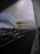 Liège, Belgium, central station  2019 02 roof