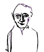 Leon Golub sketch of