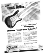 "Tremolo Action....The New Comfort Contour Another ""First"" For Fender Stratocaster"