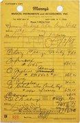 Jimmy Hendrix Receipt 1969