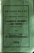 ASLEF Rule Book 1954