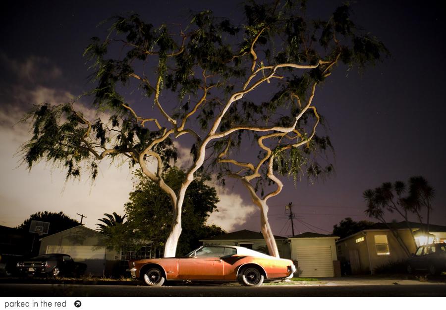 """""""parked in the red""""  mar vista, ca"""