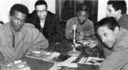 Tyrone Washington, Woody Shaw, Roger Humphries, Larry Ridley and Horace Silver
