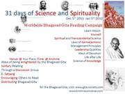 31 Days of Science and Spirituality