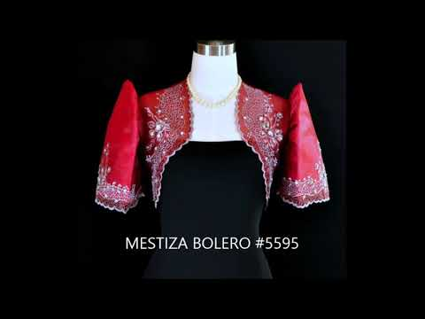 Floral Design Mestiza Bolero Gowns Dress form Barongs R us