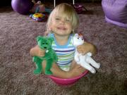 Paige in a bowl (granddaughter #3)