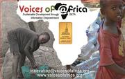 Reverse side of previous Voices of Africa card