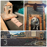 CG Built Reese Piece Dog House and Pond
