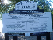 Handicap walkway now completed at Stearns Park north side