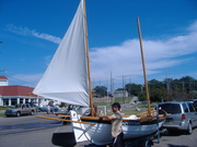 Homemade sailboat, schooner Norweigan type