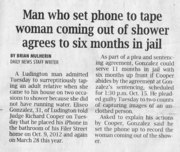 Ludington?!  Isn't that the same place where the police department point recording cameras in bathroom stalls?
