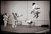 White black-belts CAN jump.