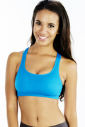 Aqua Blue Gym Bra Wholesale