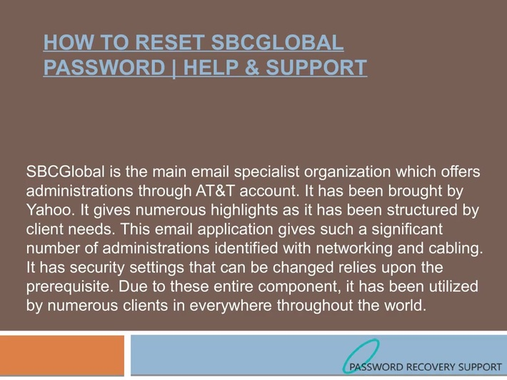 Recover SBCGlobal Mail Password | Get Help & Support
