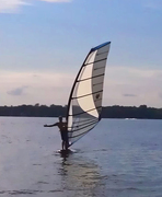 First day out with my new Ezzy 9.5 sail at Gun Lake.