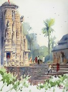 Plein Air at Rameswar Temple 16 Nov 2014