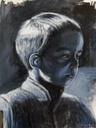 Backlit boy