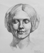Lopsided smile - study from the 'Bargue book'