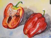 Red Bell Pepper, still life