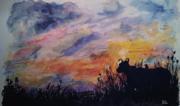 Watercolour silhouette