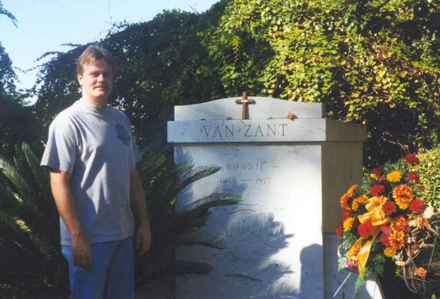 Scott at the Van Zant grave site
