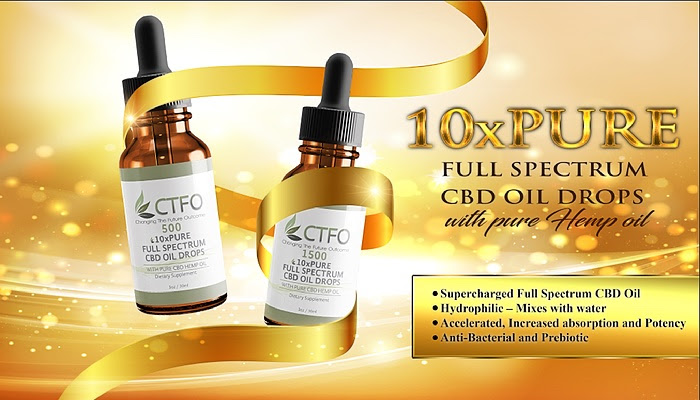 CTFO CBD 10X PURE FULL SPECTRUM WATER SOLUBLE MESSAGE IN A BOTTLE PIC
