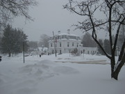 Southbridge Credit Union on a Snowy Winter Day