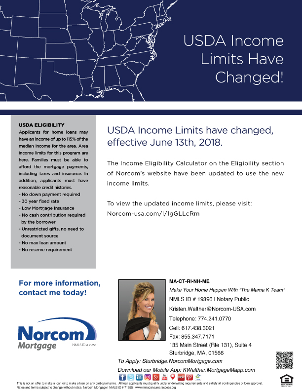 USDA Income Limits Have Changed!