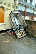 Damaged phone kiosk 2