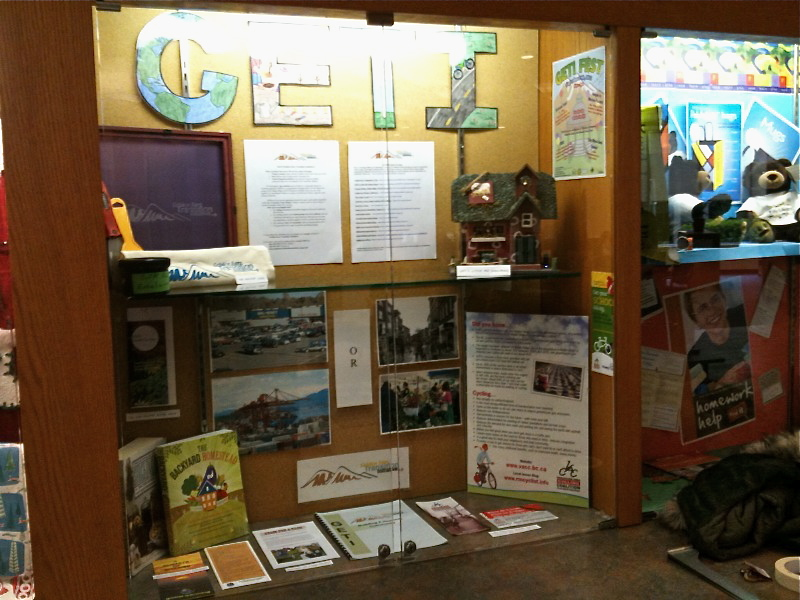 GETI display at Maple Ridge library